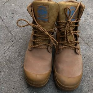 Palladium Waterproof Tan Boots Size 8.5